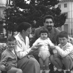 Con moglie e figli ai Giardini di Asiago