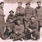 A Rikovo, in Russia, all'inizio del 1942, primo da destra.