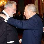Col presidente Carlo Azeglio Ciampi per la nomina a Cavaliere di Gran Croce, il 27 gennaio 2003