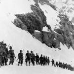 Durante un'esercitazione sul Gran Paradiso nel 1939