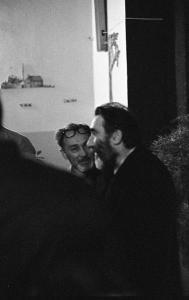 Con l'amico Primo Levi, nel maggio del 1977