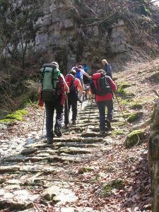 La Calà del Sasso, con i suoi 4.444 gradini in pietra.