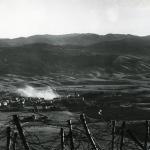 Il centro del paese sotto un bombardamento (foto dell'esercito austriaco)