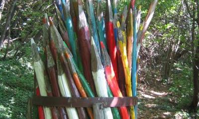 Un'installazione artistica al Parco del Sojo