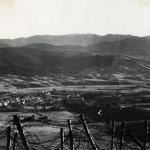 Asiago vista dalla croce del Monte Katz tra novembre e dicembre del 1917
