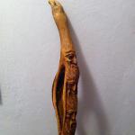 Il bastone intagliato regalato da Mauro Corona a Mario Rigoni Stern