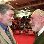 Con il segretario della Cgil, Sergio Cofferati