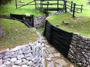 Trincee all'ecomuseo della Grande Guerra sul monte Zebio