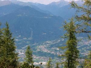 La Valsugana vista dal monte Isidoro